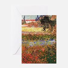 Flowering Garden by Vincent van Gogh Greeting Card