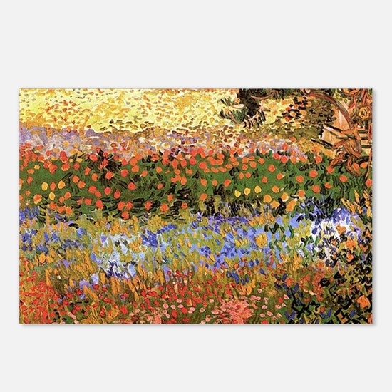Flowering Garden by Vincent van Gogh Postcards (Pa