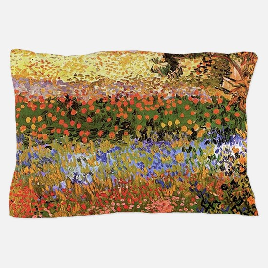 Flowering Garden by Vincent van Gogh Pillow Case