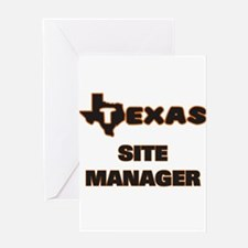 Texas Site Manager Greeting Cards