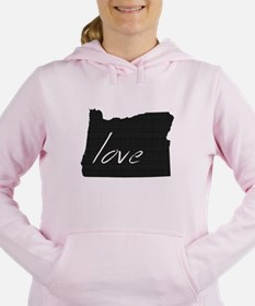 Love Oregon Women's Hooded Sweatshirt