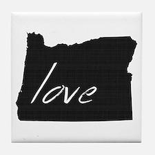 Love Oregon Tile Coaster