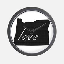 Love Oregon Wall Clock