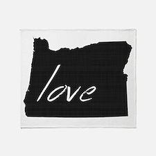 Love Oregon Throw Blanket