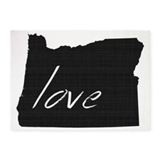 Love Oregon 5'x7'Area Rug
