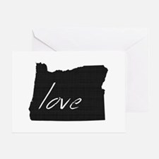 Love Oregon Greeting Card