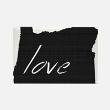 Love Oregon Rectangle Magnet (100 pack)