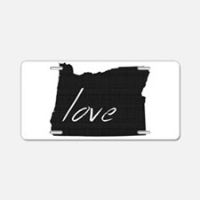 Love Oregon Aluminum License Plate