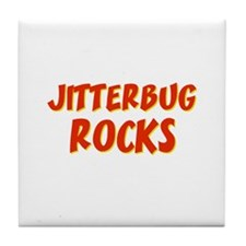 Jitterbug Rocks Tile Coaster