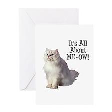 ME-OW Persian Cat Greeting Card