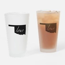 Love Oklahoma Drinking Glass