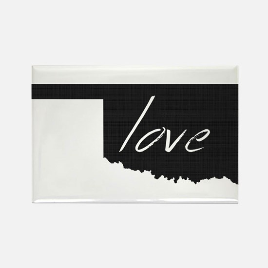 Love Oklahoma Rectangle Magnet