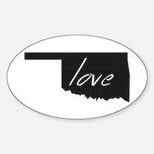 Love Oklahoma Sticker (Oval)