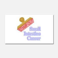 Small Intestine Cancer Car Magnet 20 x 12