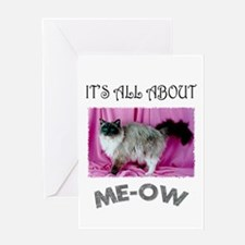 All About ME-OW Ragdoll Greeting Card