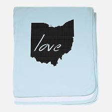 Love Ohio baby blanket