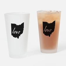 Love Ohio Drinking Glass
