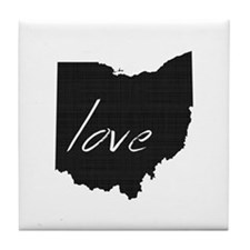 Love Ohio Tile Coaster