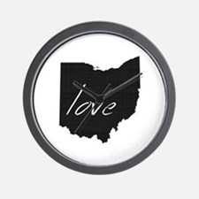 Love Ohio Wall Clock