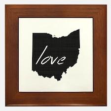 Love Ohio Framed Tile