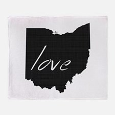 Love Ohio Throw Blanket