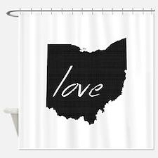Love Ohio Shower Curtain