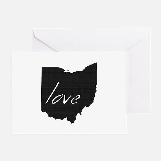 Love Ohio Greeting Card