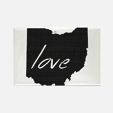 Love Ohio Rectangle Magnet (10 pack)