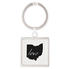 Love Ohio Square Keychain