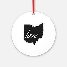Love Ohio Ornament (Round)