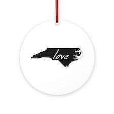 North Carolina Ornament (Round)