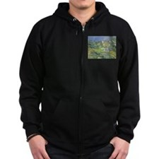 Houses in Provence by Cezanne Zip Hoodie