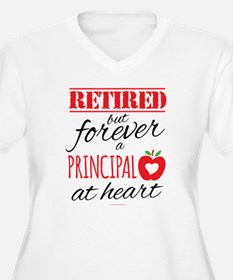 Retired Principal at Heart Plus Size T-Shirt