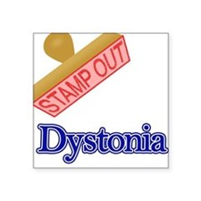 """Dystonia Square Sticker 3"""" x 3"""""""