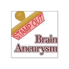 "Brain Aneurysm Square Sticker 3"" x 3"""