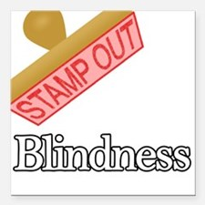 "Blindness.png Square Car Magnet 3"" x 3"""