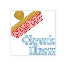 "Cardiovascular Disease Square Sticker 3"" x 3"""