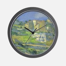 Houses in Provence by Cezanne Wall Clock