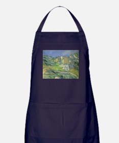 Houses in Provence by Cezanne Apron (dark)