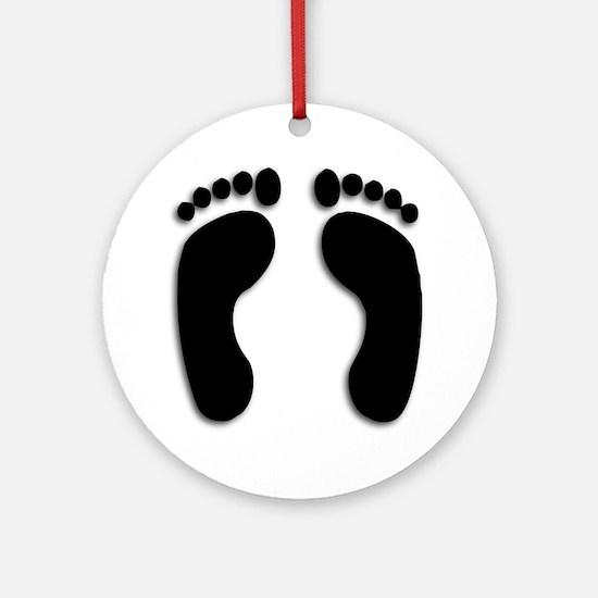 Bare foot Prints Ornament (Round)