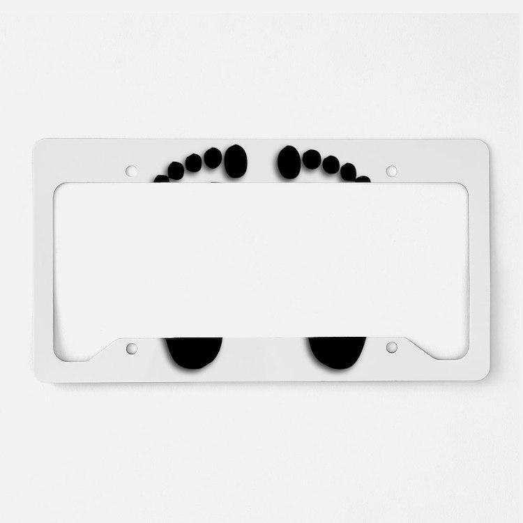 Bare foot Prints License Plate Holder