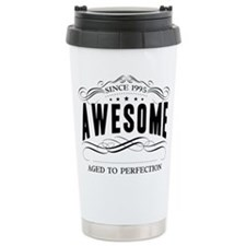 Birthday Born 1995 Awes Travel Coffee Mug