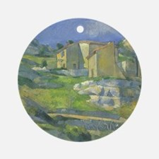 Houses in Provence by Cezanne Ornament (Round)