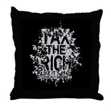 Tax the Rich II Throw Pillow