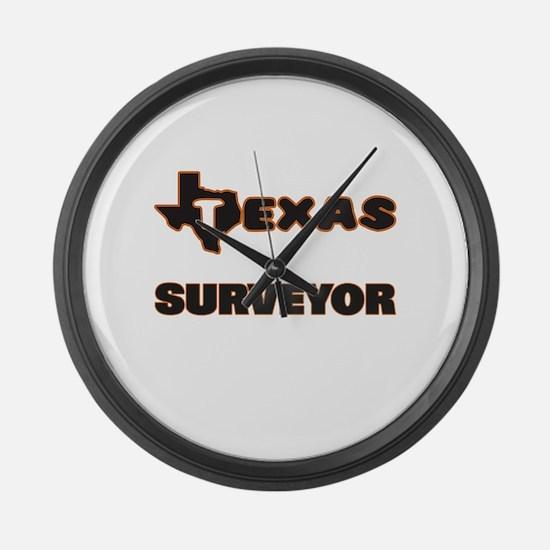 Texas Surveyor Large Wall Clock