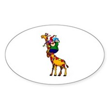 clowny clown Sticker (Oval 50 pk)