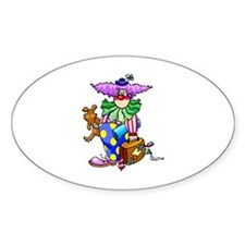 clowny clown Sticker (Oval)