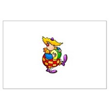 clowny clown Large Poster
