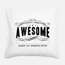 Birthday Born 2000 Awesome Square Canvas Pillow