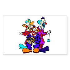 goofy clown Sticker (Rectangle)